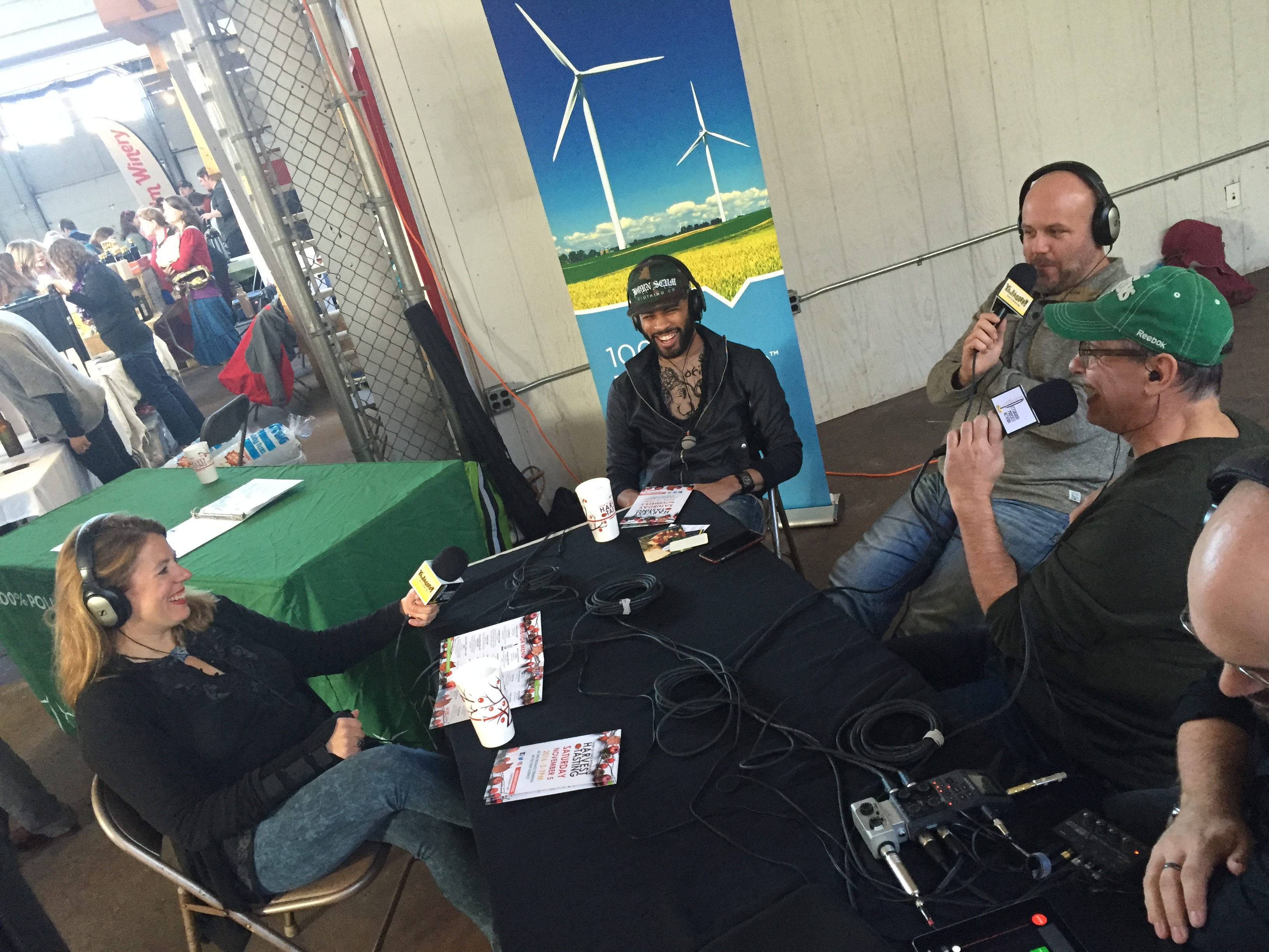 YaJagoff Podcast ecording at the Farm to Table event