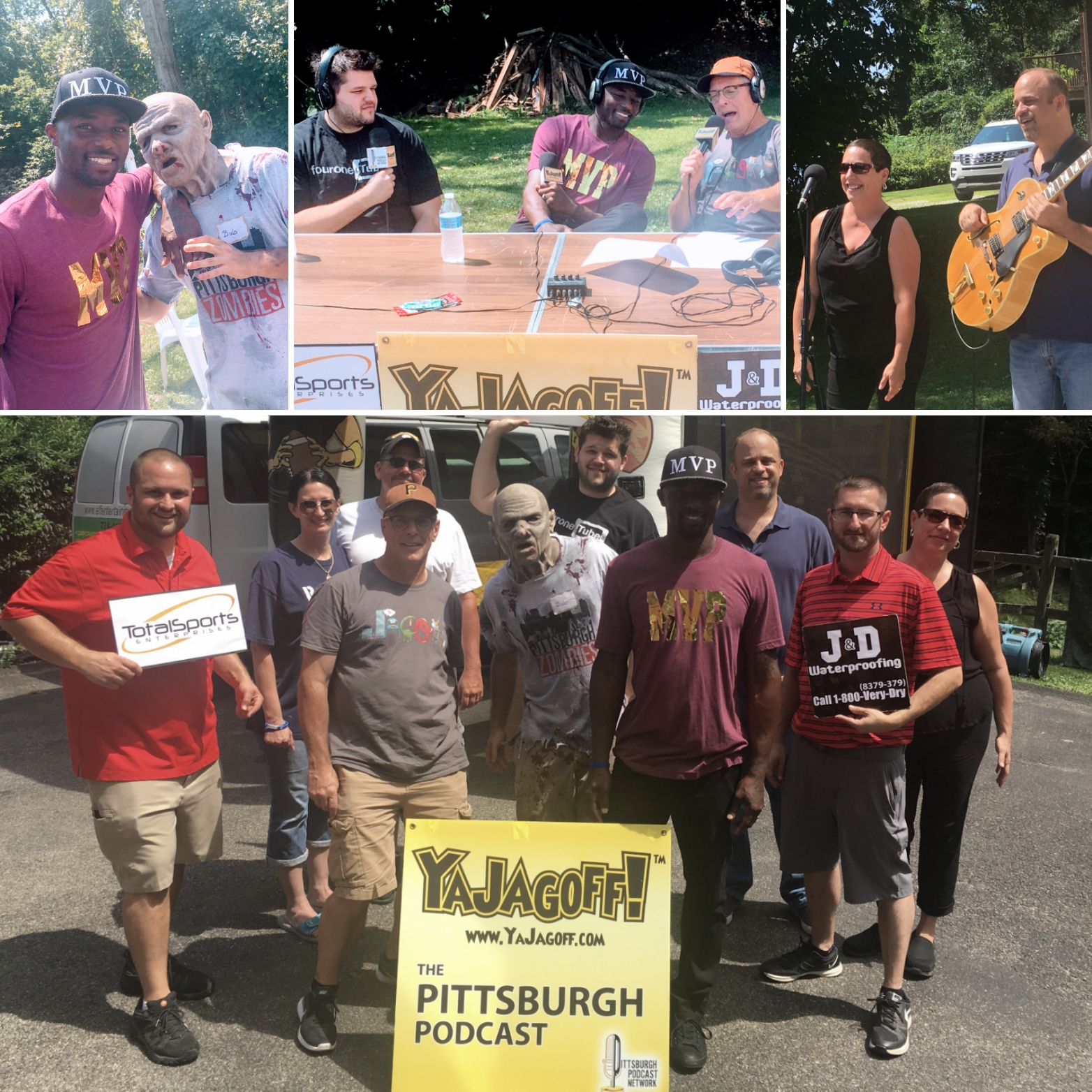 YaJagoff Podcast, Porch Tour #4 With Santonio Holmes, Zombies and The Olga Watkins Band