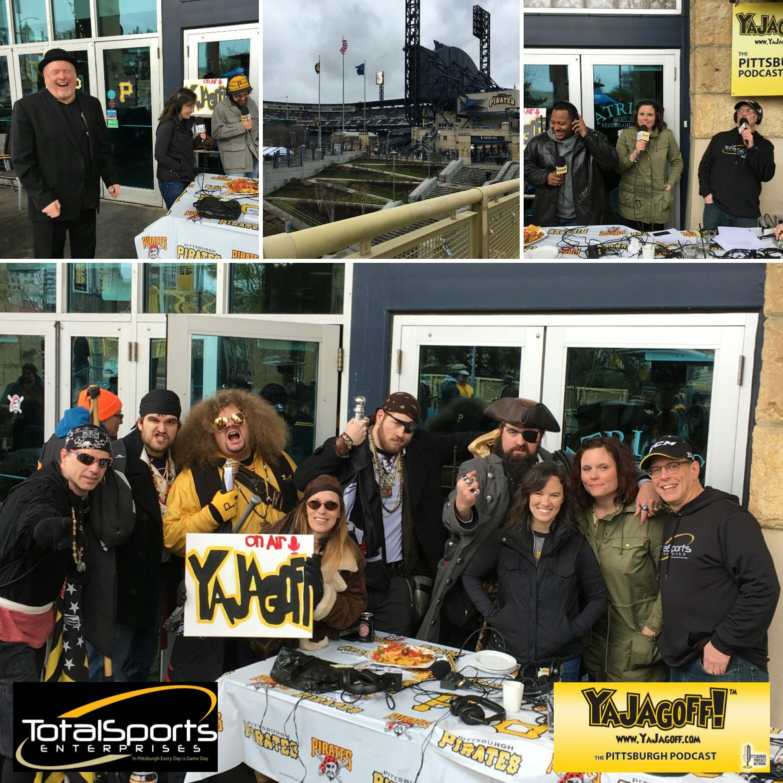 YaJagoff Podcast, Episode 65, Pirates' Home Opener from Atria's, PNC Park