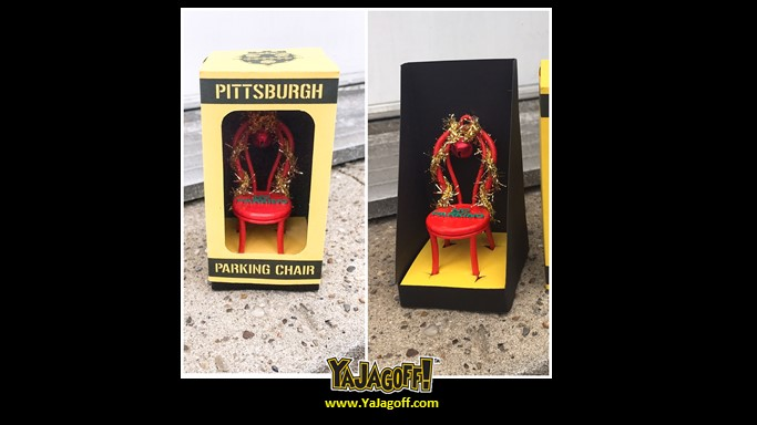 A Special Post: A Pittsburgh Parking Chair Christmas Ornament!